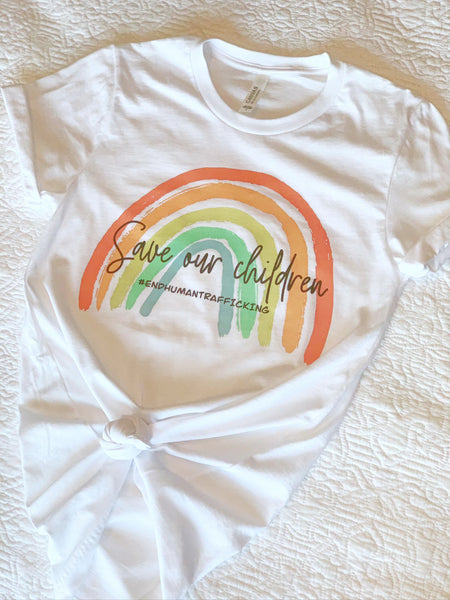 Save The Children Rainbow T-Shirt: $5 from Every Sale Goes to Operation Underground Railroad!
