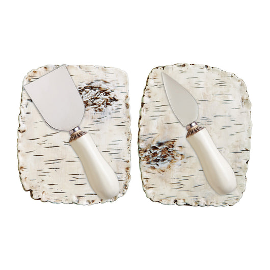 Set of 2 Birch Cheese Plates + Knives  sc 1 st  Modern Rustic Home & Set of 2 Birch Cheese Plates + Knives \u2013 Modern Rustic Home