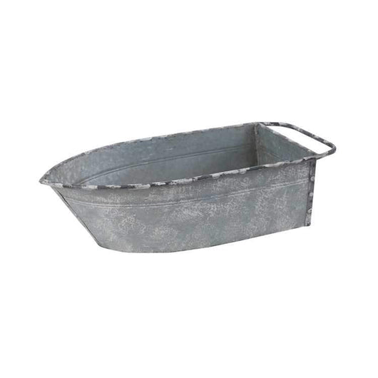 Set of 2 Galvanized Boats