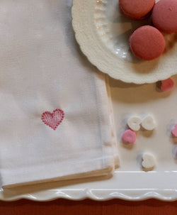 Set of 4 Heart Napkins