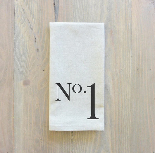 Set of 4 No. 1-4 Linen Napkins