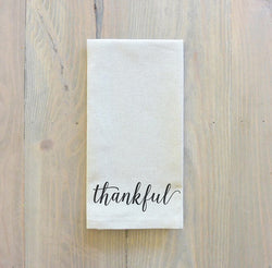 Set of 6 or 8 Thankful Napkins