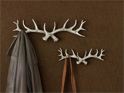 Silver Antler Three Arm Hook