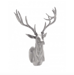 Silver Stag Trophy Head