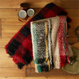 Striped Soft Throw Blanket