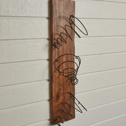 Antique Iron Springs Wall Wine Rack