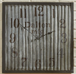 Square Galvanized Industrial Clock