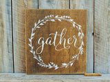 Square Gather Sign