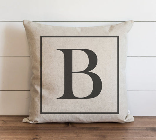 Square Monogram 20 x 20 Pillow Cover