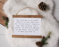 Steve Jobs Quote rustic farmhouse sign decor Canvas Poster