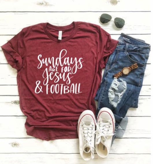 Sundays are for Jesus and Football T-Shirt