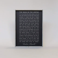 The Man In The Arena Quote | Wood Sign