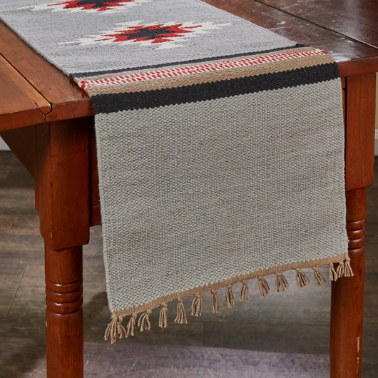 Gray Patterned Trail Table Runner