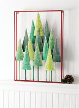Metal Christmas tree wall decor