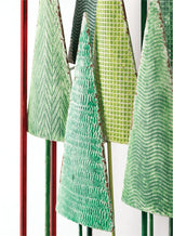Patterned green metal tree wall accent