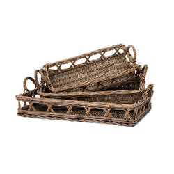 Trisha Yearwood Outer Banks Woven Trays - Set of 3