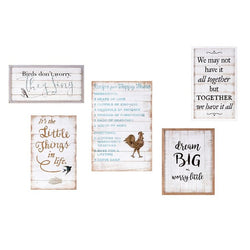 Trisha Yearwood Songbird Inspirational Wall Decors - Set of 5