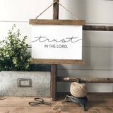"""Trust in the Lord"" rustic farmhouse decor Canvas Poster"