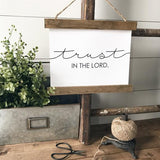 """Trust in the Lord"" Farmhouse sign decor Canvas Poster"