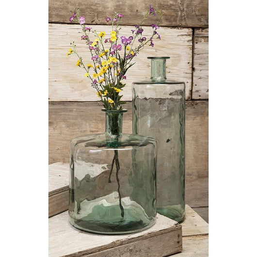Vettriano Tall Oversized Recycled Glass Vase Modern Rustic Home