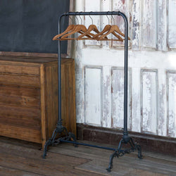 Vintage-Style Clothes Rack