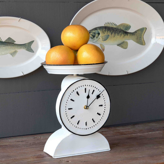 Vintage-Style Painted Grocer's Scale Clock