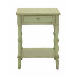 Vintage Yellow End Table