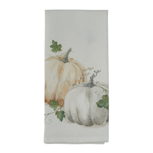 farmhouse Water Color Pumpkin Towel