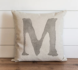 Watercolor Typography Burlap 20 x 20 Pillow Cover