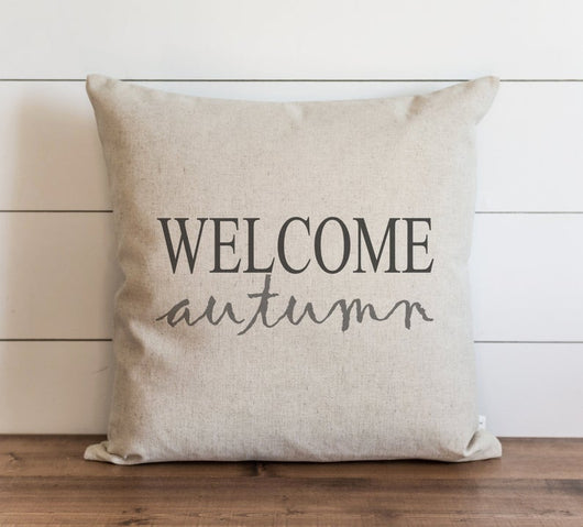 modern rustic home welcome autumn pillow cover