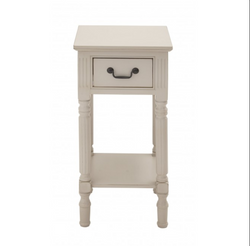 White Traditional End Table