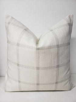 White and Grey Check Pillow Cover Farmhouse Decor