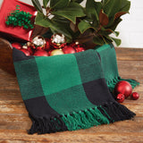 green comfy festive wicklow check throw