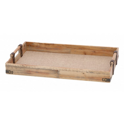 Wood and Linen Tray