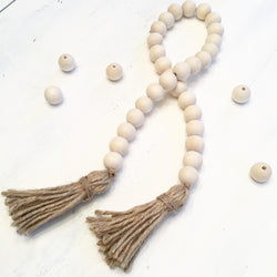 Wooden Bead garland Tassel Decor