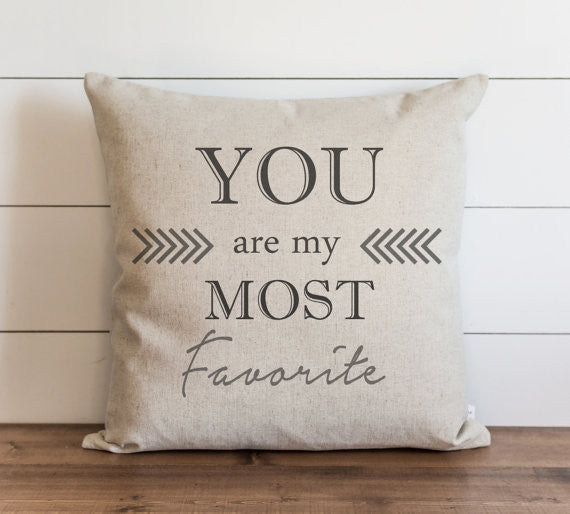 You Are My Most Favorite 20 x 20 Pillow Cover