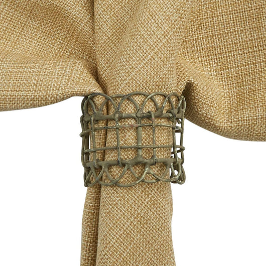 Zinc Vintage Wire Napkin Ring (Set of 4)