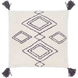 Braith Modern Bohemian Tassel Farmhouse Throw Pillow
