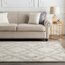 Modern Classic Farmhouse Cream and Gray Candice Olson Design Rug