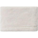Cheri Cream Faux Fur Farmhouse Throw Blanket
