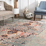 Distressed Persian Sarita Rug, Farmhouse decor, Traditional, area rug, vintage, floor coverings, grey