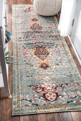 Distressed Persian Sarita Rug, Runner, Farmhouse decor, Traditional, vintage, floor coverings, grey