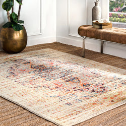 Distressed Persian Sarita Rug, Farmhouse decor, Traditional, vintage, floor coverings, area rug, sand