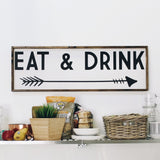 Eat and Drink Sign wood Farmhouse decor