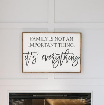 Family is Everything Sign wood Farmhouse wall decor