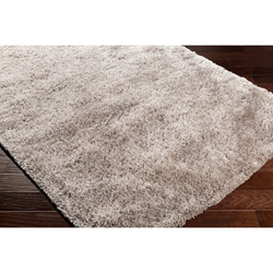 Cozy Grizzly Plush Pile Grey Rug