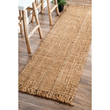 Hand Woven Chunky Loop Jute Rug, Runner, Farmhouse decor, natural fibers, neutral, floor covering