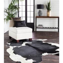 Duke 100% Hair on Hide Modern Rug - Cow