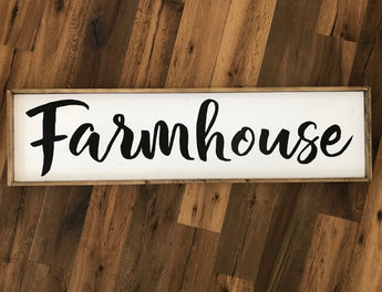 Oversized 4-ft Farmhouse Wood Sign