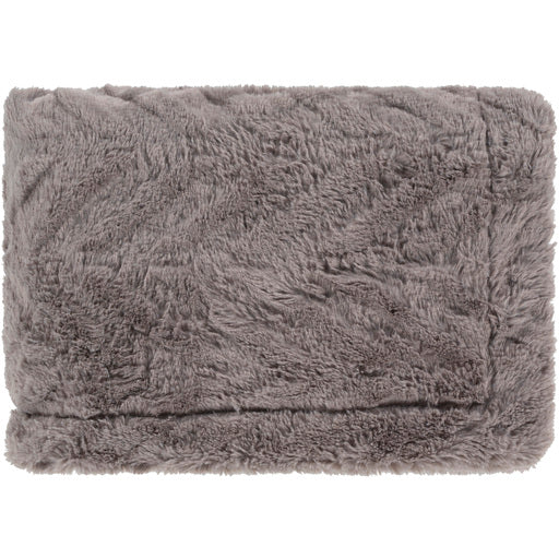 Lapin Faux Fur Warm and Cozy Throw Blanket - Grey